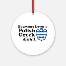 Polish Greek Girl Ornament (Round)