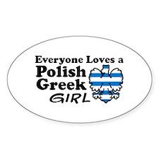 Polish Greek Girl Oval Decal
