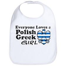Polish Greek Girl Bib
