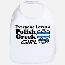 Polish Greek Girl Bib