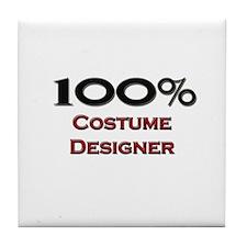 100 Percent Costume Designer Tile Coaster