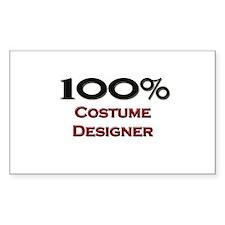100 Percent Costume Designer Rectangle Decal