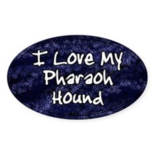 Funky Love Pharaoh Hound Oval Decal