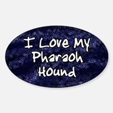 Funky Love Pharaoh Hound Oval Decal