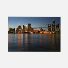 Detroit Skyline Rectangle Magnet (10 pack)