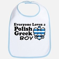 Polish Greek Boy Bib