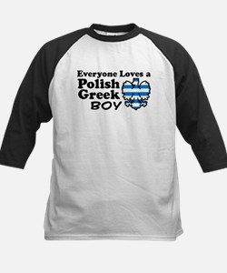 Polish Greek Boy Kids Baseball Jersey