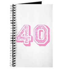 Pink 40 Years Old Birthday Journal