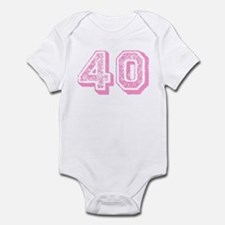 Pink 40 Years Old Birthday Infant Bodysuit