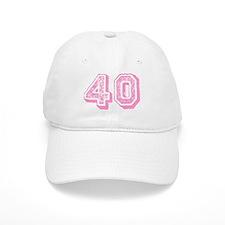 Pink 40 Years Old Birthday Baseball Cap