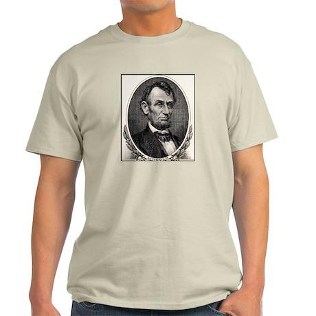 Abe Lincoln portrait Ash Grey T-Shirt