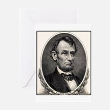 Abe Lincoln portrait Greeting Cards (Pk of 10)