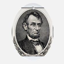 Abe Lincoln portrait oval ceramic Keepsake