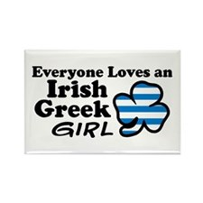 Irish Greek Girl Rectangle Magnet