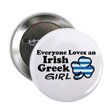"Irish Greek Girl 2.25"" Button"