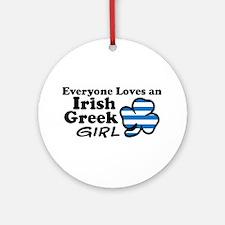 Irish Greek Girl Ornament (Round)