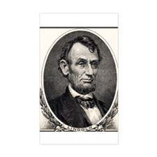 "Abe Lincoln portrait 3x5"" Decal"