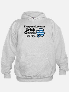 Irish Greek Girl Hoodie