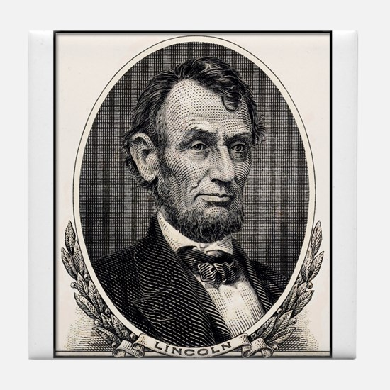 Abe Lincoln portrait Tile Coaster