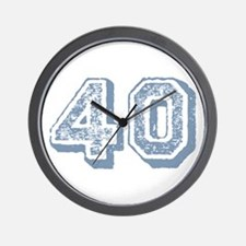 Blue 40 Years Old Birthday Wall Clock