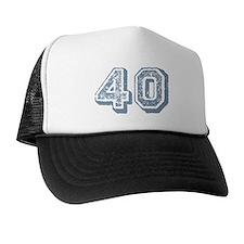 Blue 40 Years Old Birthday Trucker Hat
