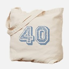 Blue 40 Years Old Birthday Tote Bag