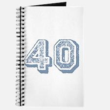Blue 40 Years Old Birthday Journal
