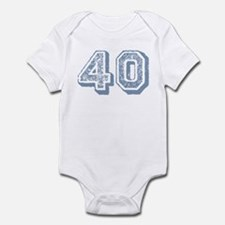 Blue 40 Years Old Birthday Infant Bodysuit