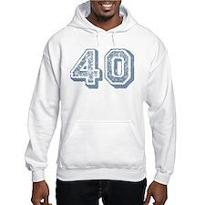 Blue 40 Years Old Birthday Hoodie