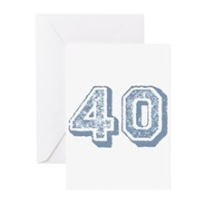 Blue 40 Years Old Birthday Greeting Cards (Pk of 2