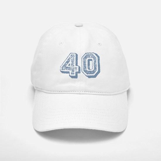 Blue 40 Years Old Birthday Baseball Baseball Cap