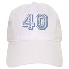 Blue 40 Years Old Birthday Baseball Cap