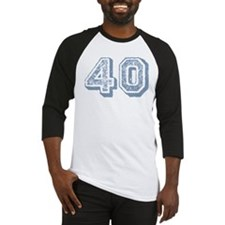 Blue 40 Years Old Birthday Baseball Jersey