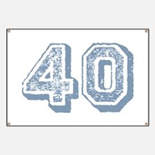 Blue 40 Years Old Birthday Banner