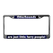 Furry People Otterhounds License Plate Frame