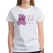 Pink Marble Teddy Due February Tee