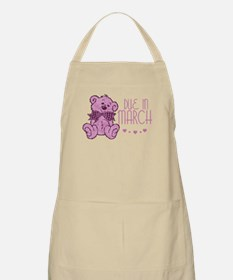 Pink Marble Teddy Due In March BBQ Apron