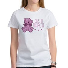 Pink Marble Teddy Due In March Tee