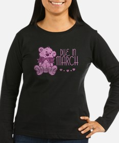 Pink Marble Teddy Due In March T-Shirt