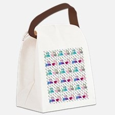 Colorful Sewing Machines Canvas Lunch Bag