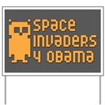 Space Invaders 4 Obama Yard Sign