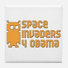 Space Invaders 4 Obama Tile Drink Coaster