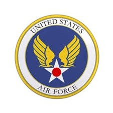 """USAF USAAC Roundel 3.5"""" Button"""