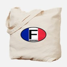 France Oval Colors Tote Bag