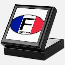 France Oval Colors Keepsake Box
