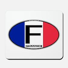 France Oval Colors Mousepad