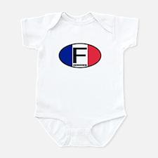 France Oval Colors Infant Bodysuit