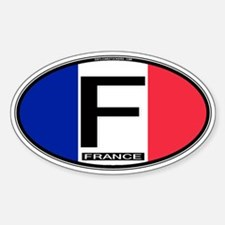 France Oval Colors Oval Decal