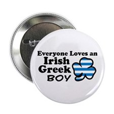 "Irish Greek Boy 2.25"" Button"