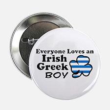"Irish Greek Boy 2.25"" Button"